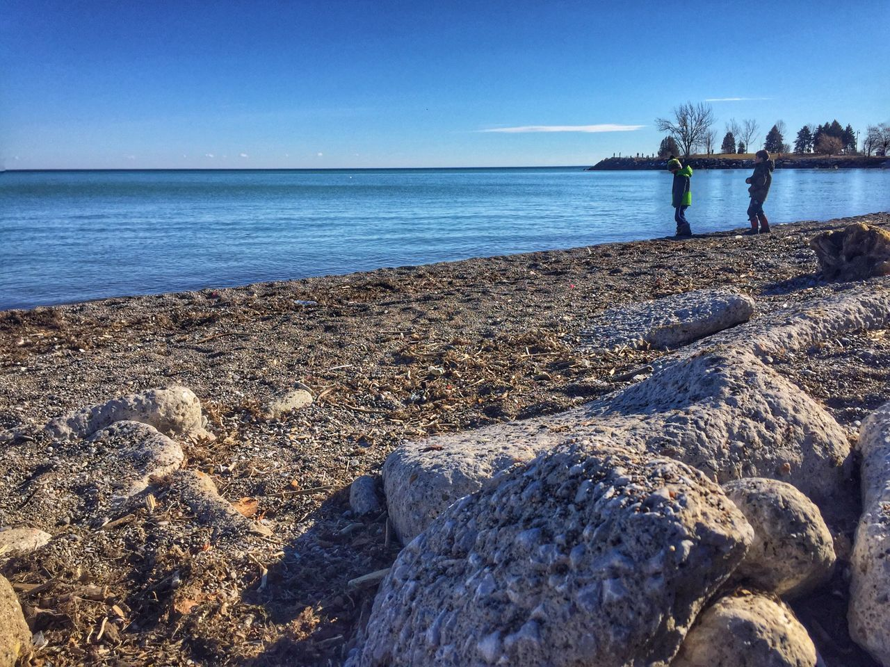 The warm days of winter. Sea Water Horizon Over Water Beach Nature Beauty In Nature Tranquility Scenics Tranquil Scene Clear Sky Rock - Object Sky Outdoors Sand Day No People Toronto Lake Ontario Scarborough Bluffs