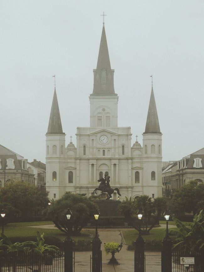 Battle Of The Cities New Orleans Jackson Square St Louis Cathedral Architecture Building Exterior Built Structure Place Of Worship Cathedral