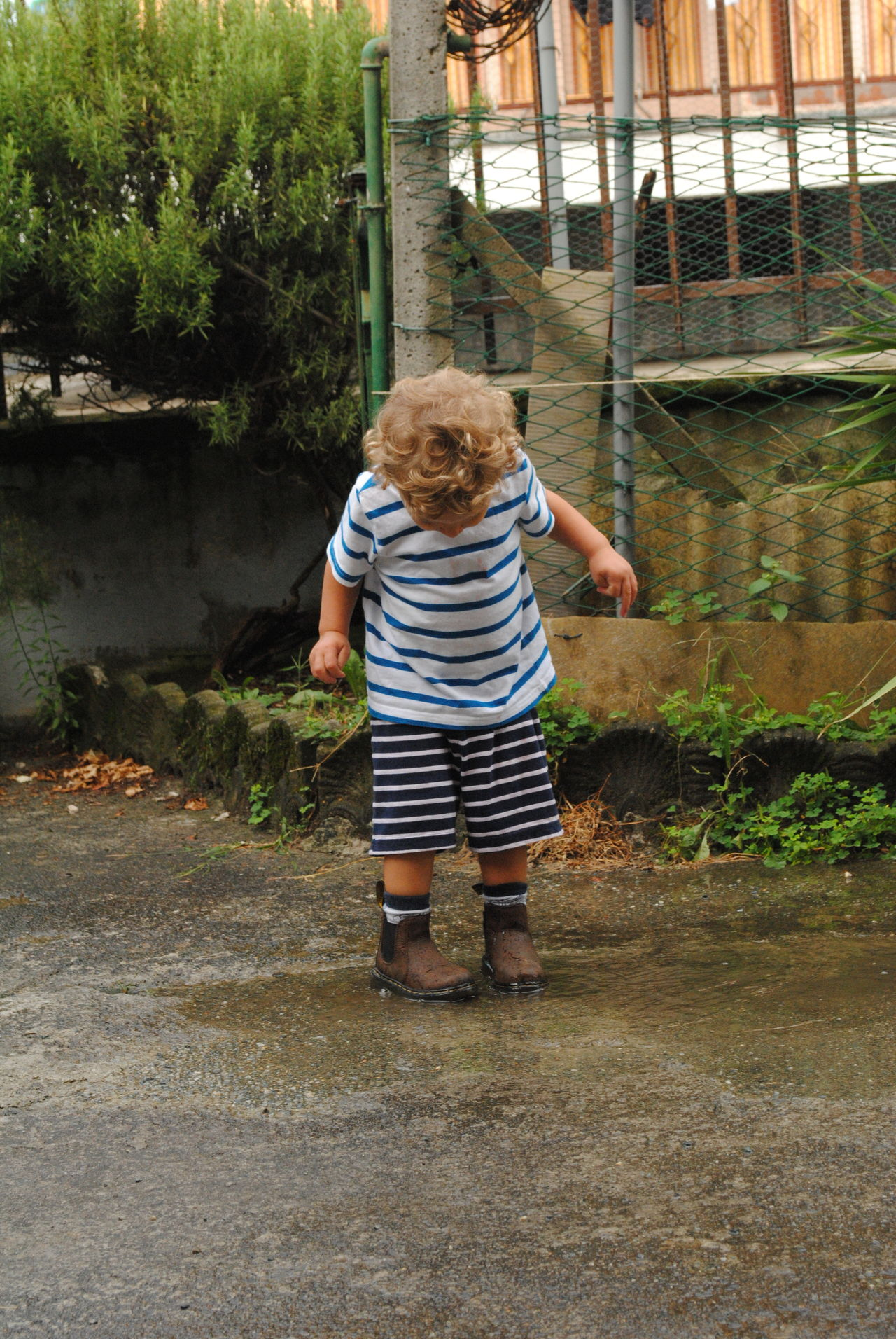 After The Rain Childhood Freedom Happyness Outdoors Playing Outdoors Puddle