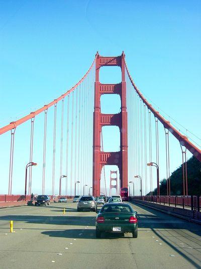Architecture Bridge Bridge - Man Made Structure Built Structure Car Clear Sky Connection Road San Francisco Bay Bridge Suspension Bridge The Way Forward Transportation Travel Destinations