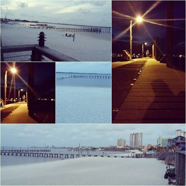 Latepost Boardwalk in Pensacola w/ @bombshelljaye Beach Boardwalk Buzzed Faded Drunk Pizza Justkoolingit Justkoolingit Withmybaby Pensacola Fl Day Night Sand Lights Leave USN