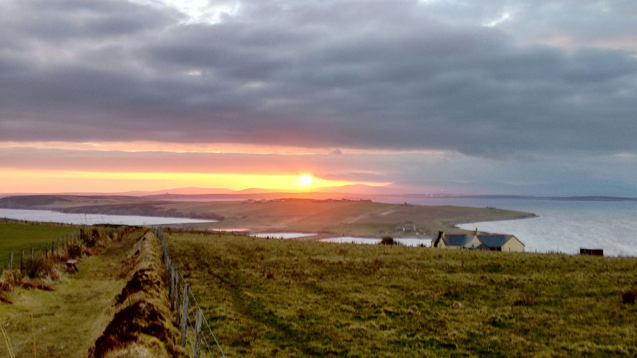 Sun is a treat in Orkney. Sunset Island Orkneyislands