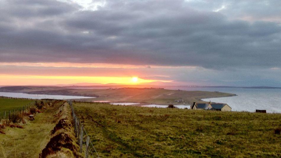 Sun is a treat in Orkney. Sunset Island Orkneyislands