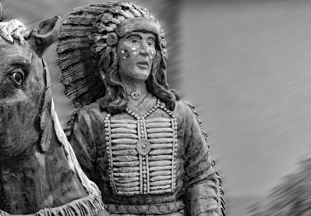 ONCE Art Black And White Blurred Background Carving - Craft Product Close-up Creativity Cropped Day Focus On Foreground Frozen Head Dress Horse Indian Looking At Camera Native No People Once Upon A Time Outdoors Portrait Relaxing Riding Sculpture Selective Focus Statue Time