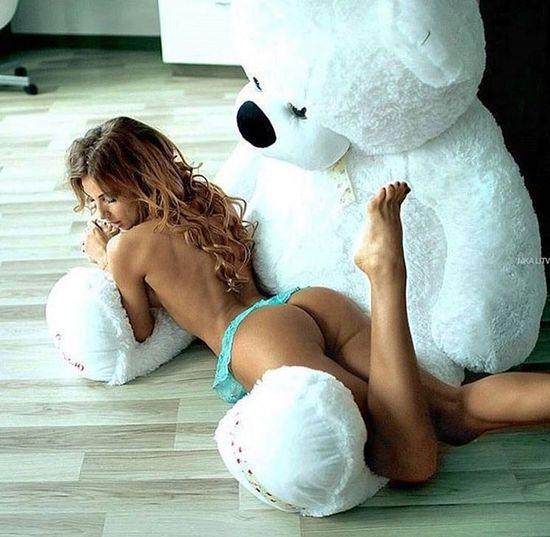 Girls and Teddybear ❤️