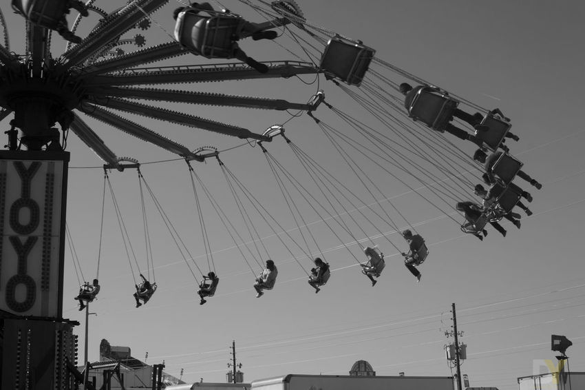 Arts Culture And Entertainment Blackandwhite Blackandwhite Photography Day Fair Fairground Low Angle View Outdoors