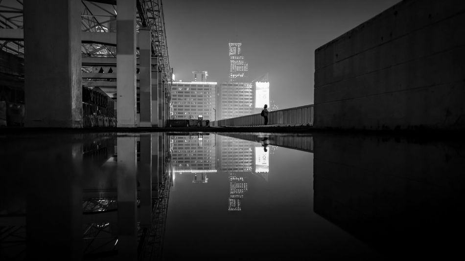 Notitle Blackandwhite Reflections In The Water Reflection Mirror Parallel World Nightscapes City Life Cityscapes Awesome Monochrome Photography Leicaq Amaging Beautiful Lifestyles Walking Around Fine Art Photography Fine Art From My Point Of View EyeEmNewHere Life In Motion Lonely The Street Photographer The Street Photographer - 2017 EyeEm Awards The Architect - 2017 EyeEm Awards