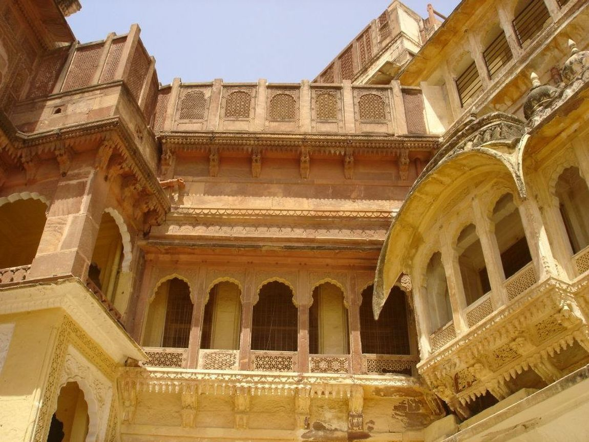 Ancient India Arch Architectural Feature Architecture Built Structure Culture Historic History India Jaipur Fort Low Angle View Ornate