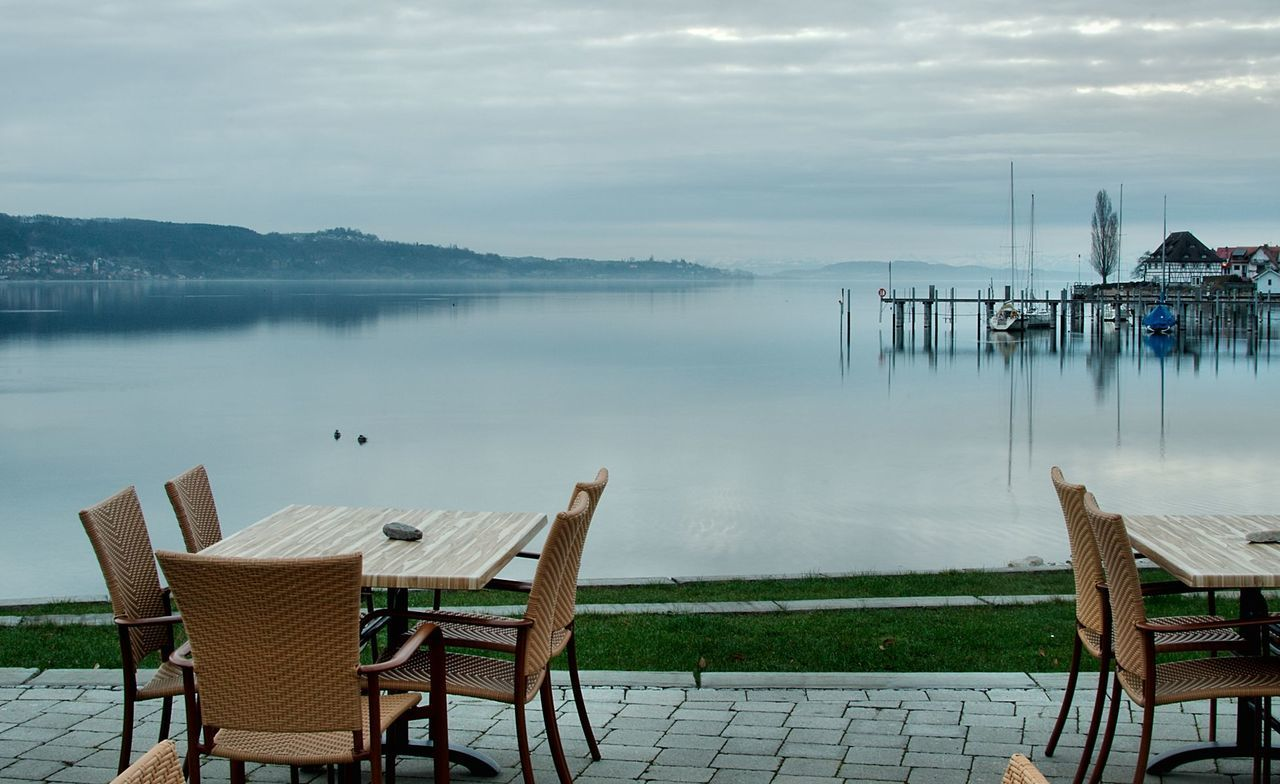 Morning at the lake of Constance Absence Calm Cloud Journey Lake Outdoors Pier Reflection Rippled Sea Sky Tranquil Scene Tranquility Tropical Climate Vacation Vacations Water Waterfront Weekend Activities Our Best Pics