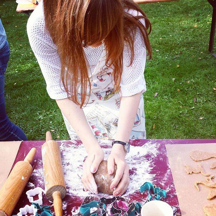 Backen Kekse Plätzchen  Garten Sonne cookies Teig