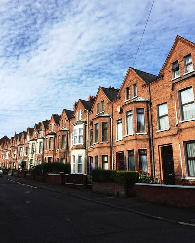 Streets of Belfast. Northern Ireland Belfast Built Structure Street Brick Brick Building Residential Structure House Cloud - Sky In A Row Narrow Neighbors Neighbours Close Space Tight Residential District Historic Old Architecture City Same  Similar No Difference