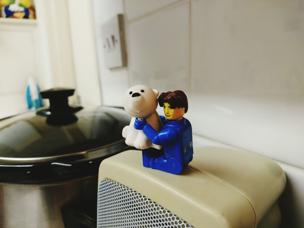 Logo Man And His Bear Blue Indoors  Uniform Toy Adventures Toy Animal Toyphotography Toy Lego Minifigures Legophotography LEGO No People