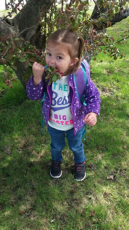 Silly Hearing Aids Tree Berries School Little Girl Happy Beautiful Good Morning Hungry