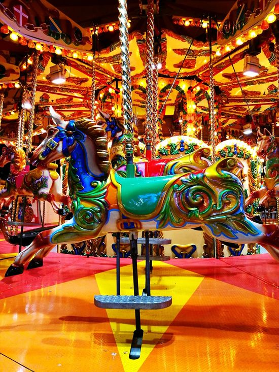 Horse Amusement Park Amusement Park Ride Carousel Multi Colored Illuminated Magic Adventure Amusement Park At Night London Rides At Fair Fairground Fun Fairground Colourful England, UK Filigree Wonderland Stallion Winter Wonderland Fairground Attractions Amusement Park Rides Pretty Albert Pony Rainbow Colors