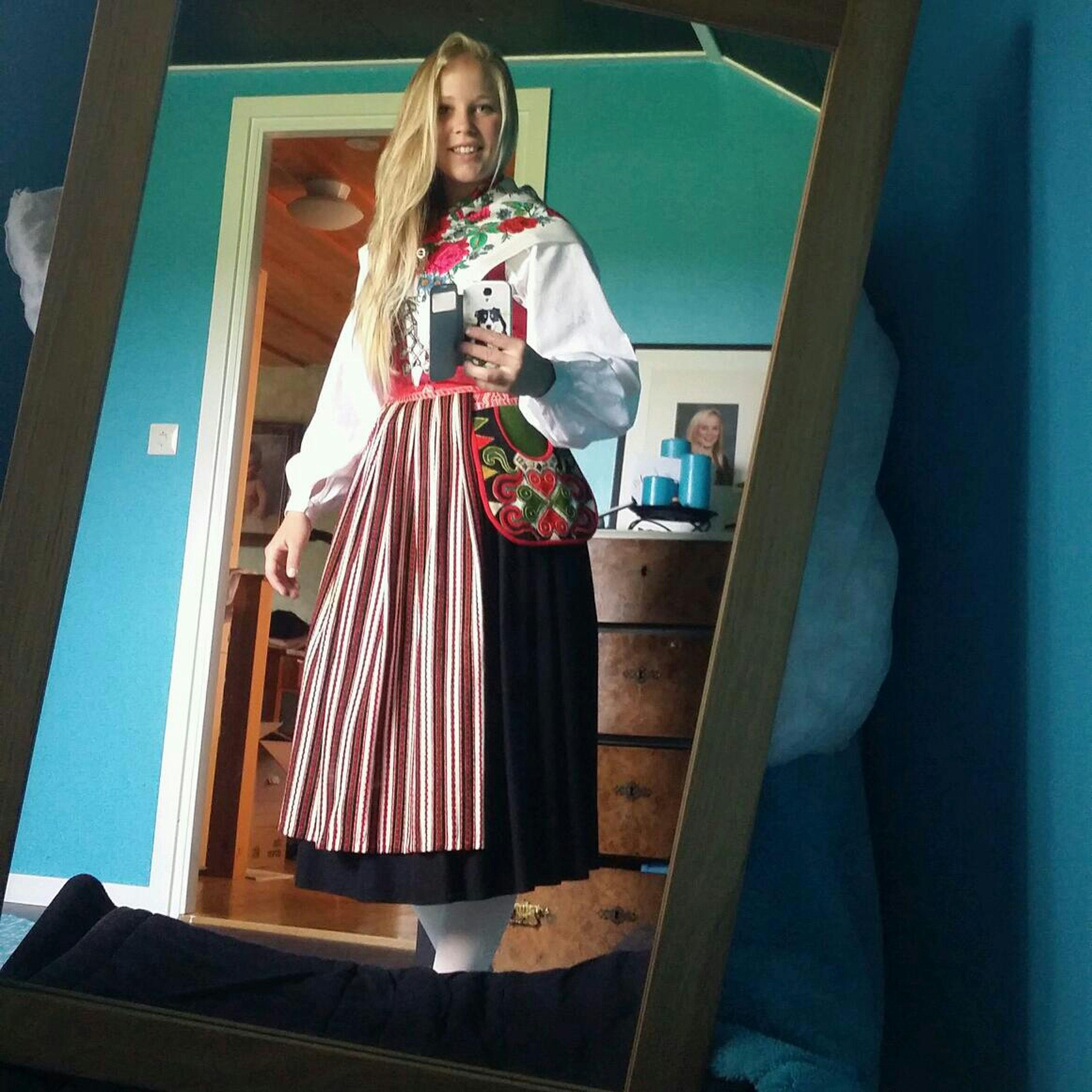 Swedish Traditional Clothing Leksandsdräkt Swedish Girl Folk Clothing