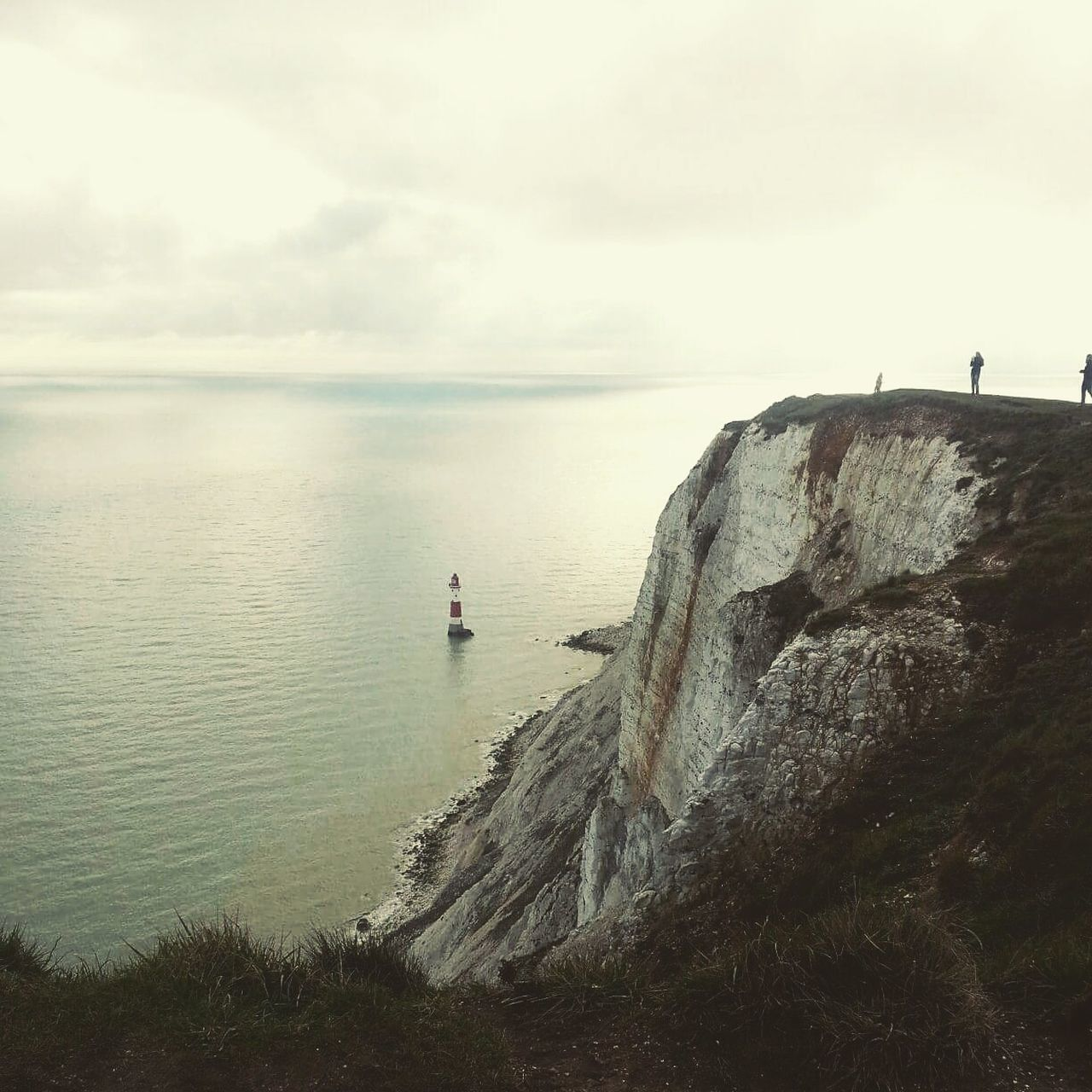 Sea Water Nature Outdoors Horizon Over Water People Beauty In Nature Day Adult Sky One Person One Man Only Lighthouses Great Britain Beachy Head