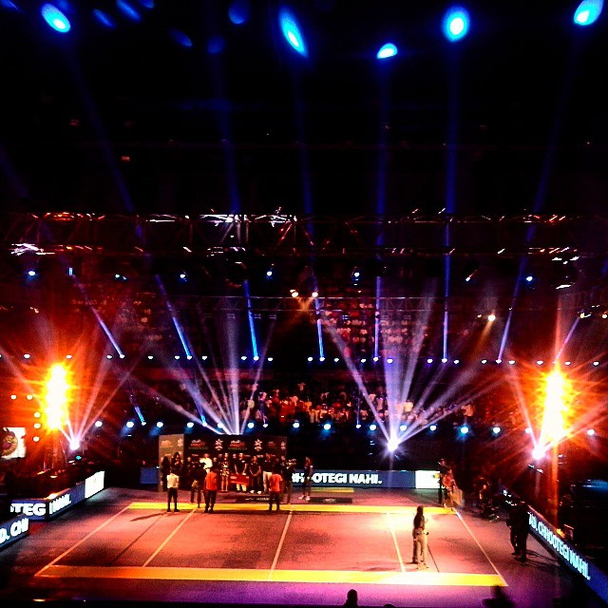 Spectacular Lighting inside the Kanteerava IndoorStadium at Bangalore hosting StarSports ProKabaddiLeague