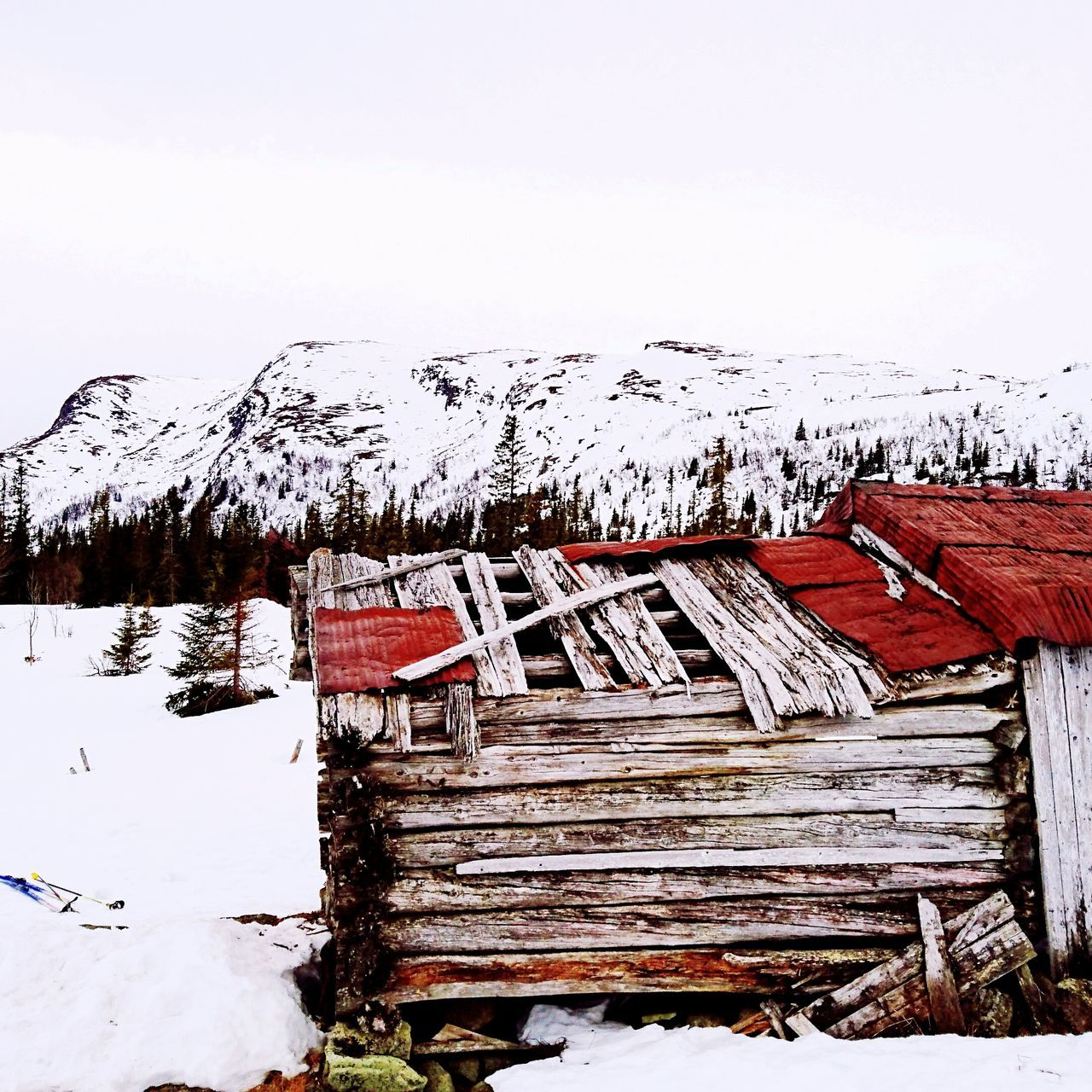 Cabin Mountains Colours Worndown Wornwonderful Time Light Oldhouse Wintertime Norway