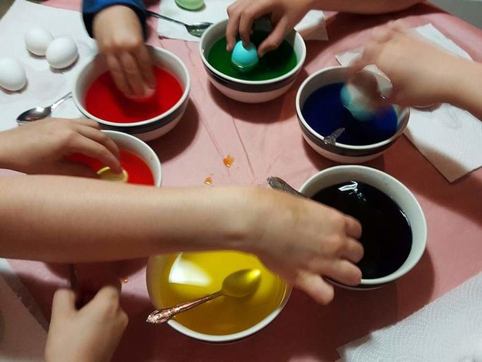 my kids this past Easter Egg Decorating. Colourful Easter Eggs Precious Moments My5lovelies Beautiful Had A Blast Circle Hands At Work Hands Love Fun Being Kids To Be Little Again. Perfectly Imperfect Timing