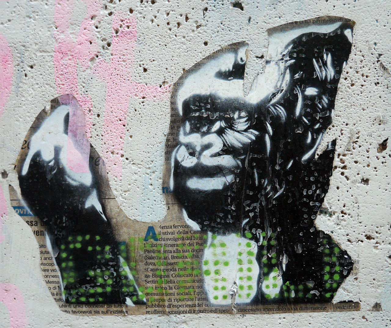Close-up Day Monkey No People Outdoors Sculpture Statue Stencil Art Street Art/Graffiti Streetart Stretphotography