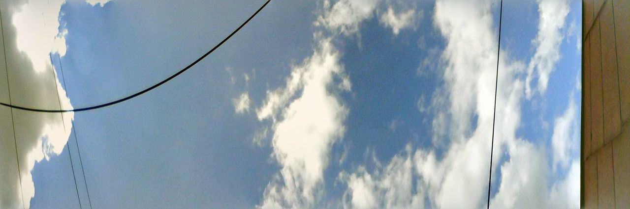 Showcase: September Edited Showcase: 2016 The Color Of Technology Enhanced Eyeemphoto Eyeem Market Wolfzuachis Ionitaveronica @wolfzuachis Cloudscape Cloud - Sky No People Outdoors Cumulus Cloud Panoramic Panorama Panoramic Photography Panoramic Sky Panoramic Photo Sky Cloud Power Line  Nature Fluffy Clouds