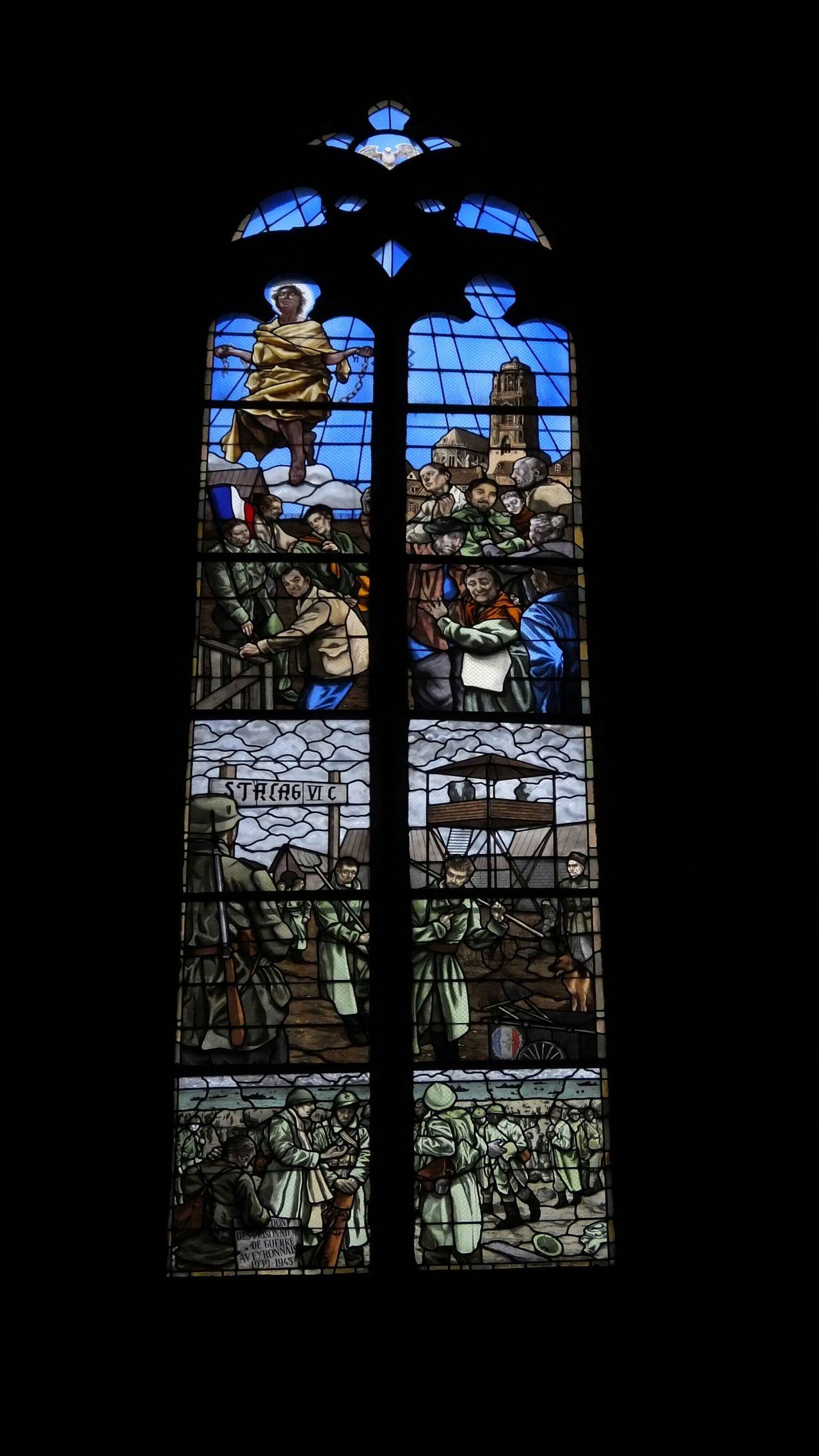 Cathédrale De Rodez Cathedral Vitrail Vitraux Stained Glass Window Rodez Aveyron Art Religious Art Religious Architecture