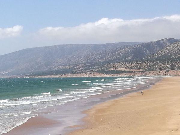 Beach Sea Sand Wave Water Scenics Nature Full Length Landscape Horizon Over Water