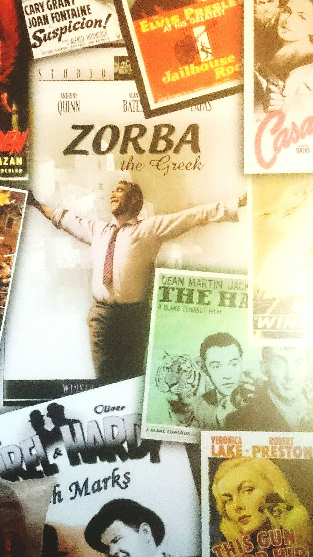 Backgrounds Text Indoors  Zorba The Greek Zorba Elvis Presley Casablanca Cinema Scope