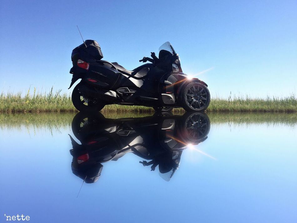 Can Am Spyder Mirrored Reflection Blackwater National Wildlife Refuge Trasportation Mode Of Transport Leisure Activity