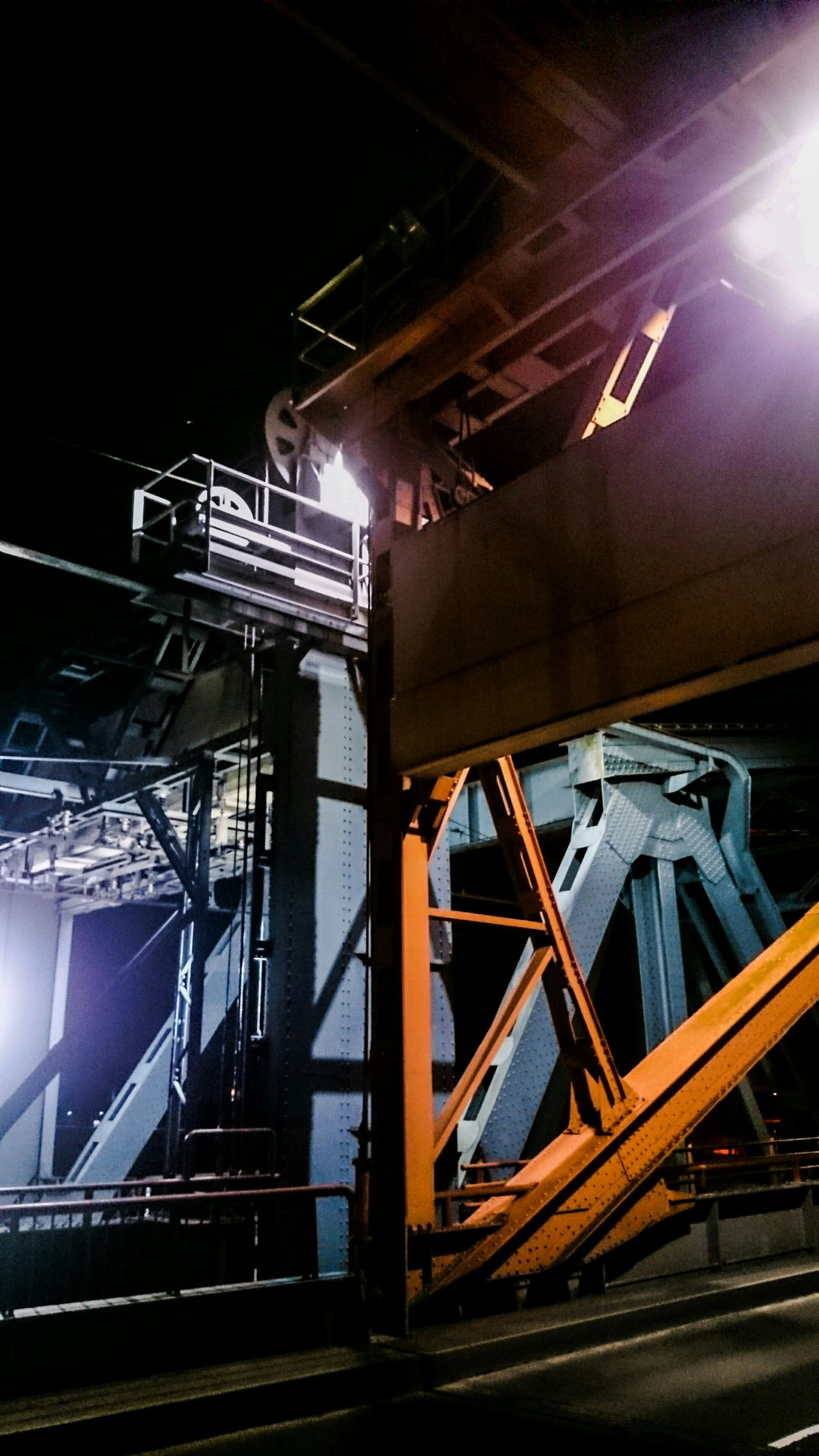 Night Photography, Details of an Old Bridge, Enjoying The View of Mechanism and Construction. Playing with Meccano :)