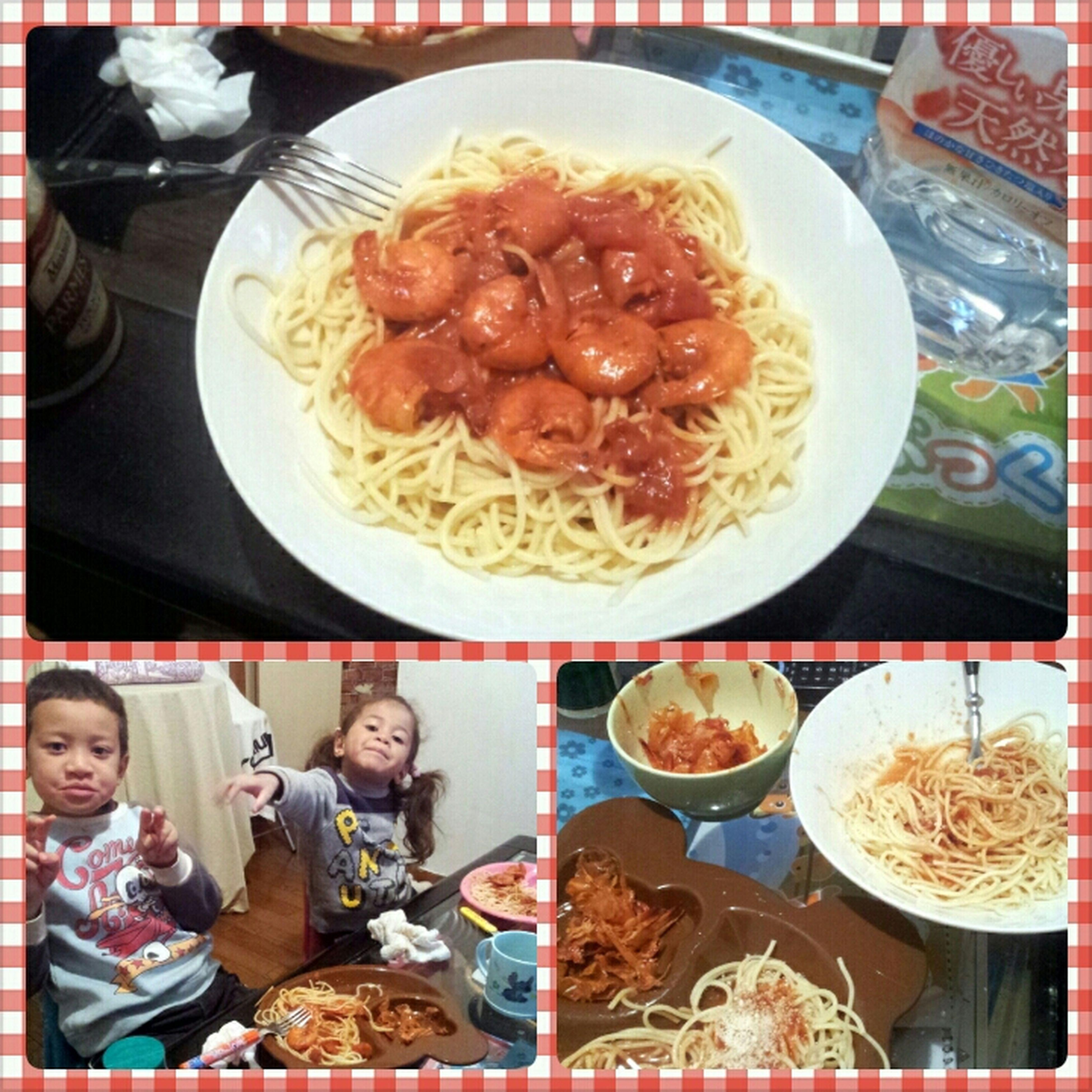 shrimp and garlic tomato sauce pasta #FatnessFirst