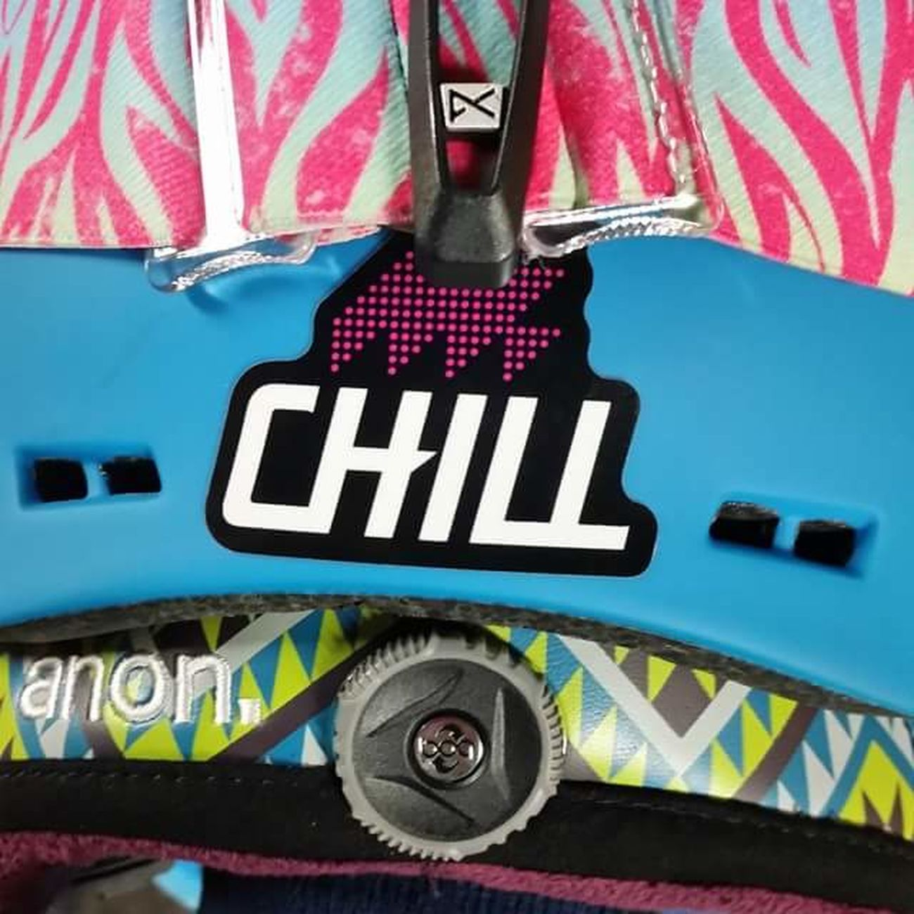 Snowboarding Helmet Chill Colors Colorful Patterns Pattern, Texture, Shape And Form Bright Snowboard Helmet