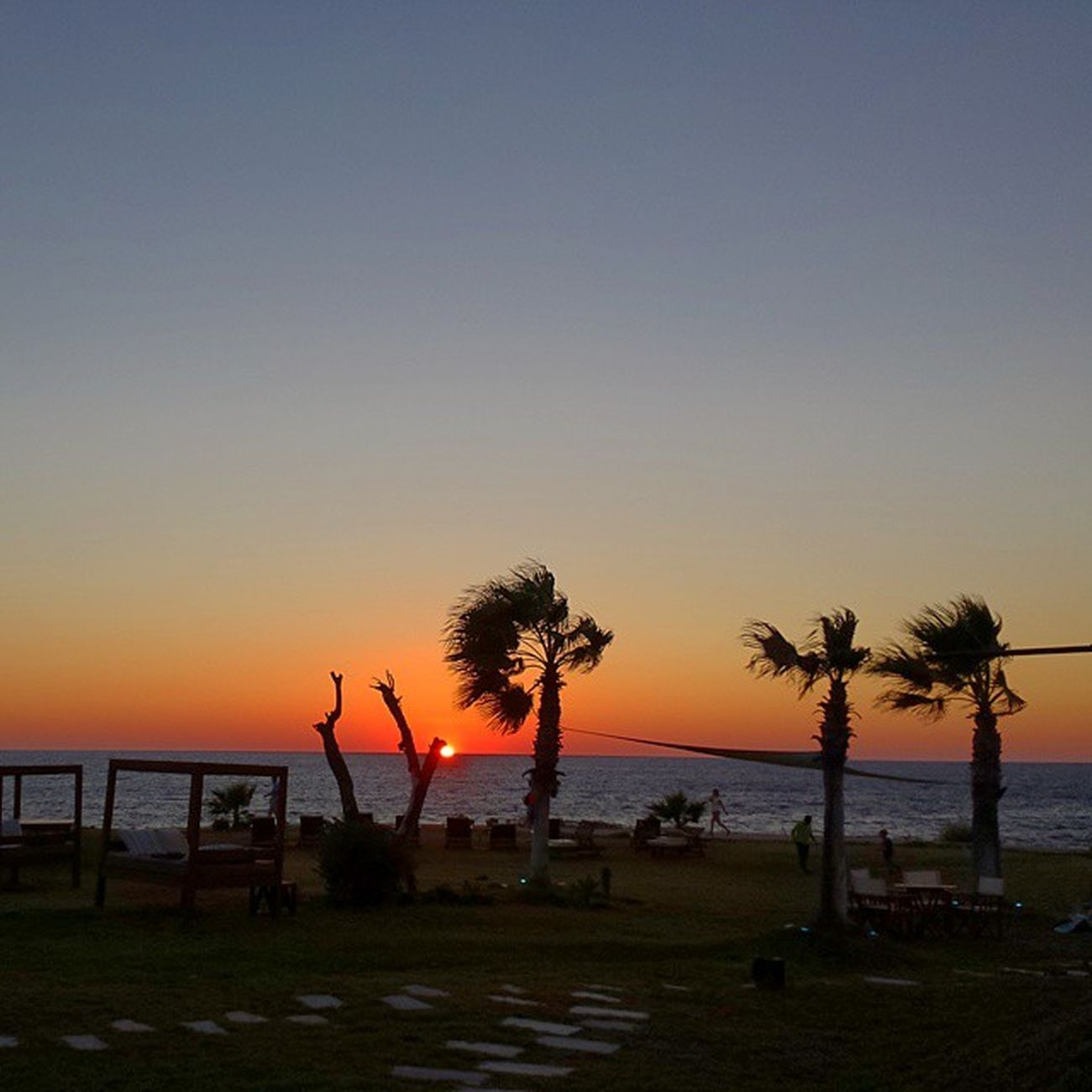 Cyprus Paphos Sea Sun sunset samsung galaxys4palmtreewindysuite48
