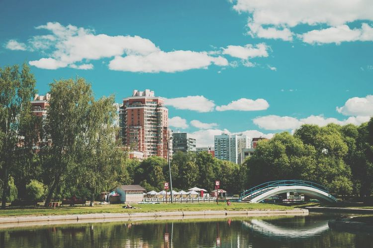 </old stuff\> ∆1 City TreeSky Cityscape Day Outdoors Green Park Pond Summertime First Eyeem Photo