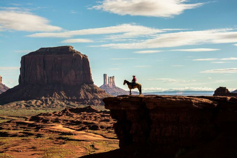 I took this shot in Monument valley and loved the man on the horse whoI had to pay to take the shot lol😉 Monument Valley USAtrip Horse Photography  Rock Formation Landscape_Collection Wilderness Area Clouds And Sky Desert Nature Photography EpicShotPhotography Man On Horseback Indiana Jones Landscape WILD WILD WEST National Park