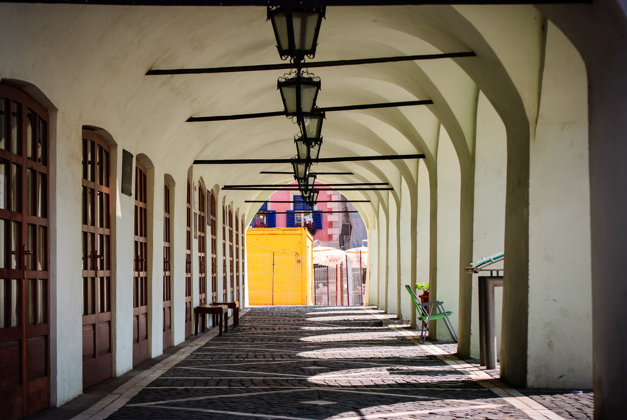 Architectural Column Architecture Built Structure Day Lamp No People Old Fashioned Romania Sibiu The Way Forward