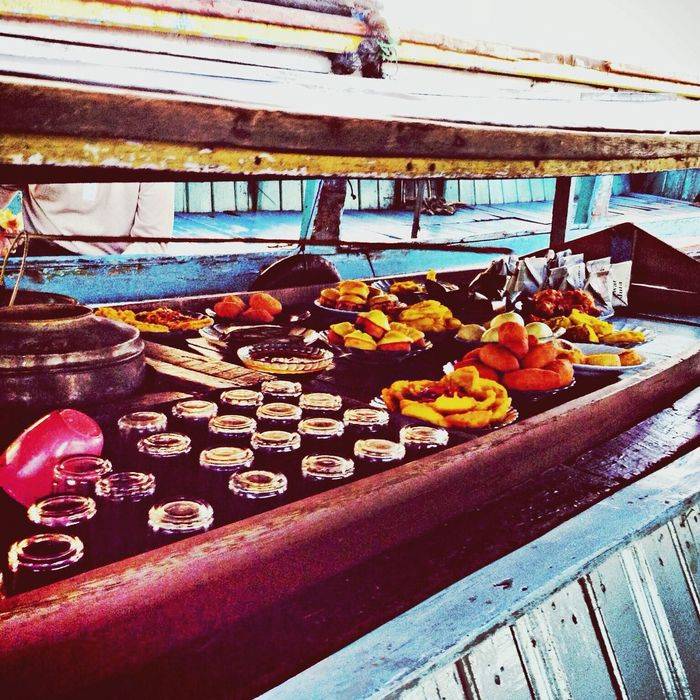 Floating Market South_borneo Indonesia At Dawn