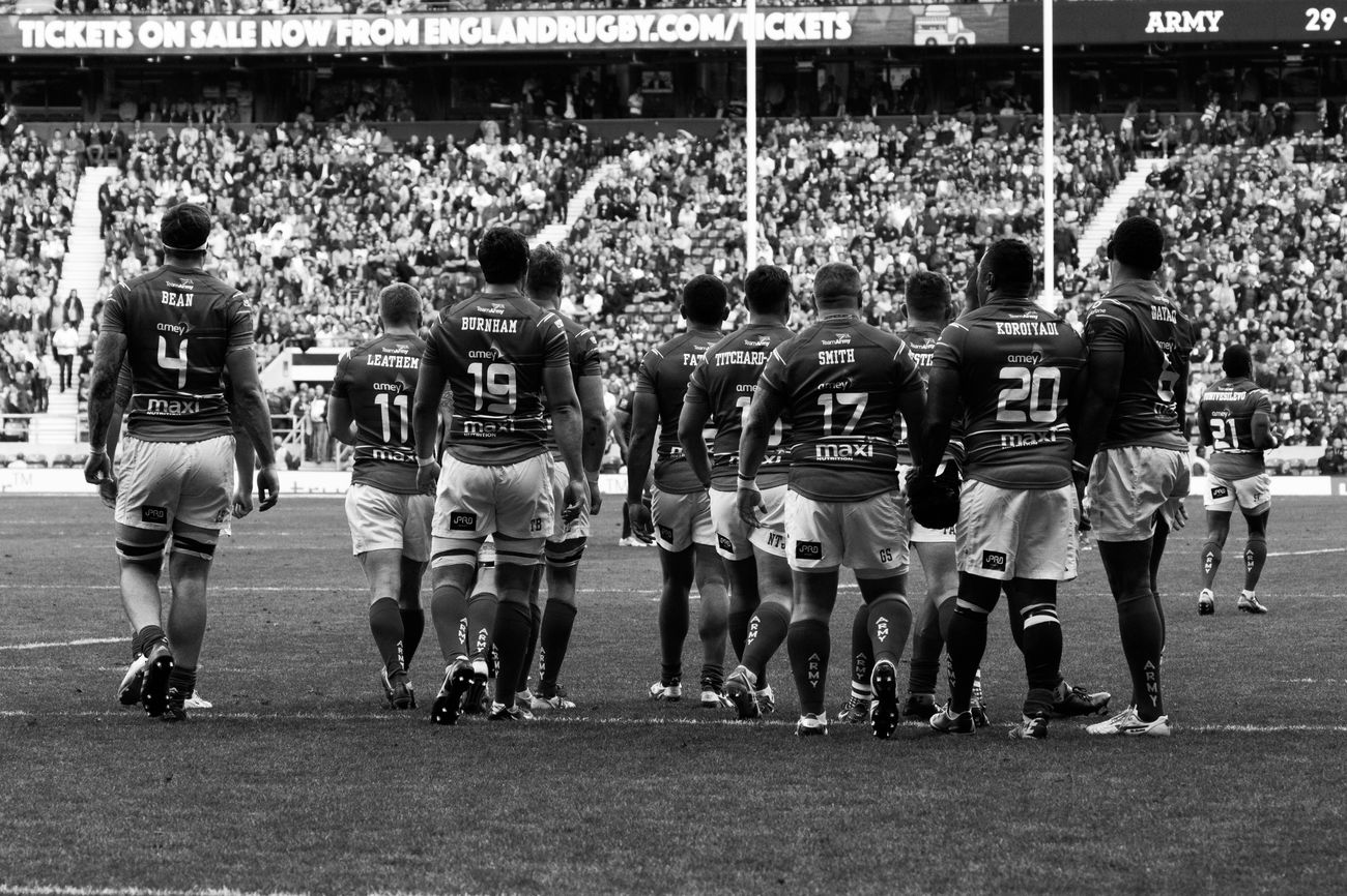 Thought I'd try B&W ArmyVsNavy Rugby Union Twickenham Rugby Canonphotography