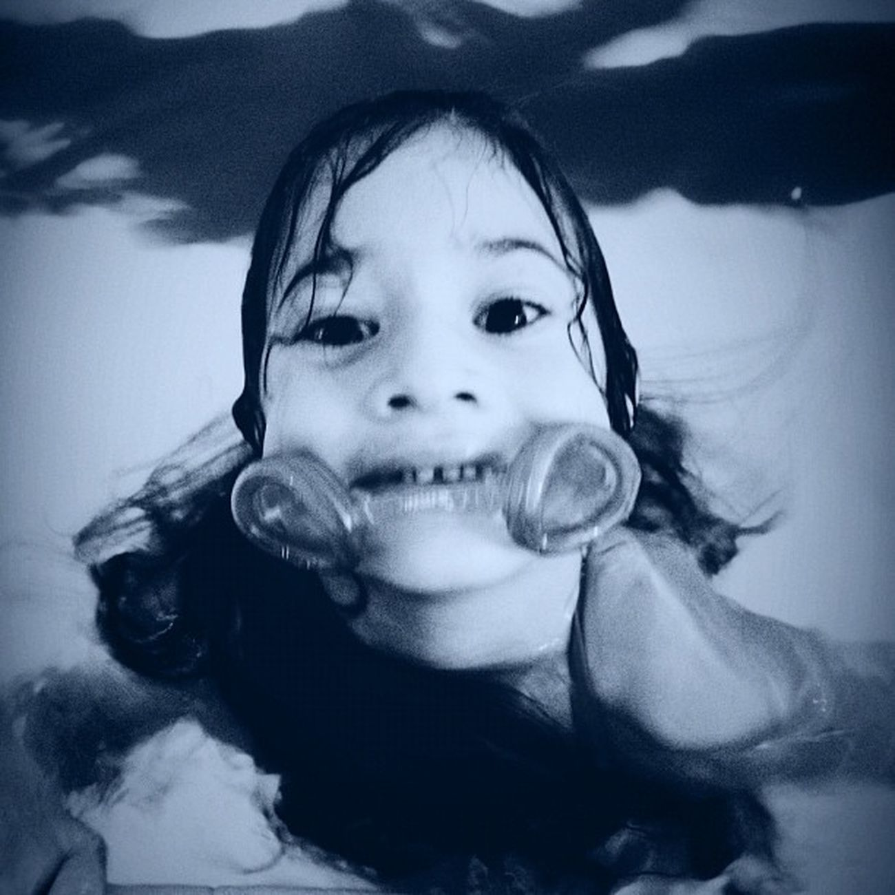Lorelai at the pool Blackandwhite Swimming Portrait Children Mcallen People