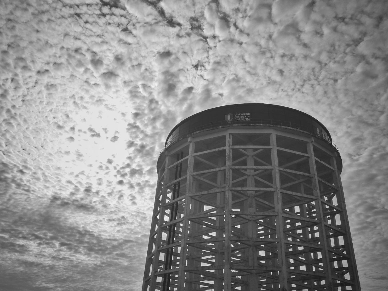 built structure, architecture, window, sky, storage tank, building exterior, day, no people, low angle view, outdoors, water tower - storage tank