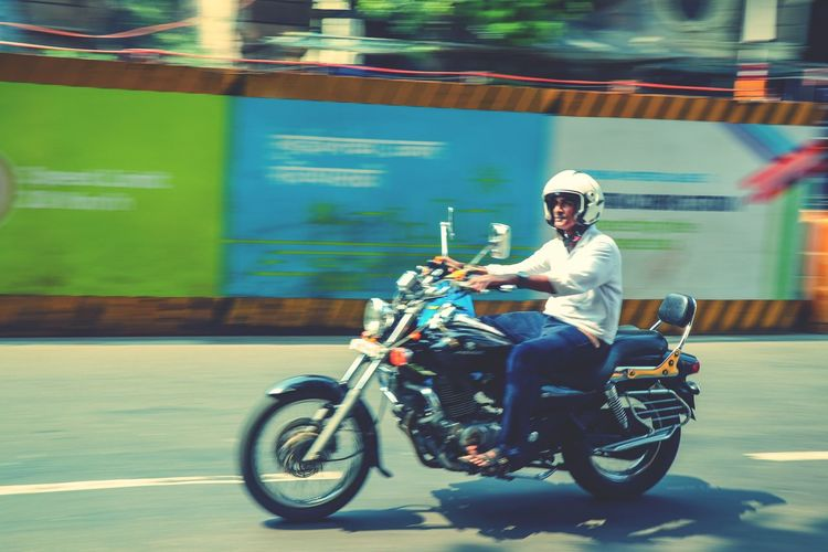 Motorcycle Mode Of Transport Headwear Transportation Riding Sports Helmet One Person People City Life City One Man Only Panning Panningphotography Panning Shot Panning Shoot Be. Ready. EyeEmNewHere