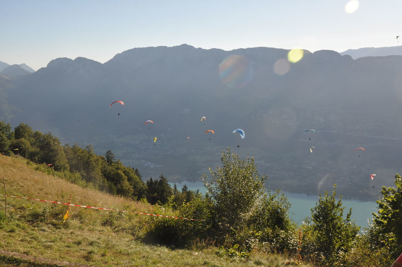 Day Landscape Mountain Nature No People Outdoors Paragliding Sky Tree