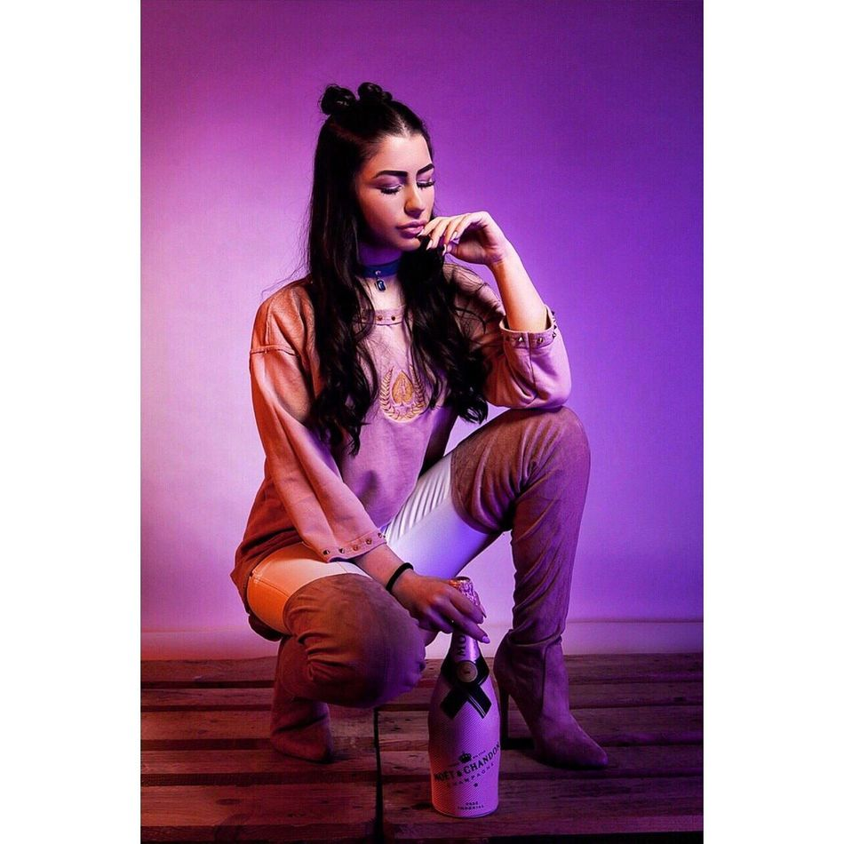 Purple Indoors  Long Hair Studio Shot Young Adult People Beautiful Woman Only Women Day Sitting Beauty Full Length