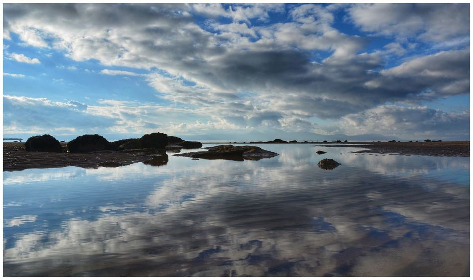Reflection Water Sky Cloud - Sky Tranquil Scene Tranquility Beauty In Nature Scenics Nature Outdoors No People Waterfront Lake Calm Day Landscape another reflection shot looking towards Isle Of Arran  from Ardrossan Sea And Sky Water_collection EyeEm Eye4photography  EyeEmBestPics EyeEm Gallery Beauty In Nature