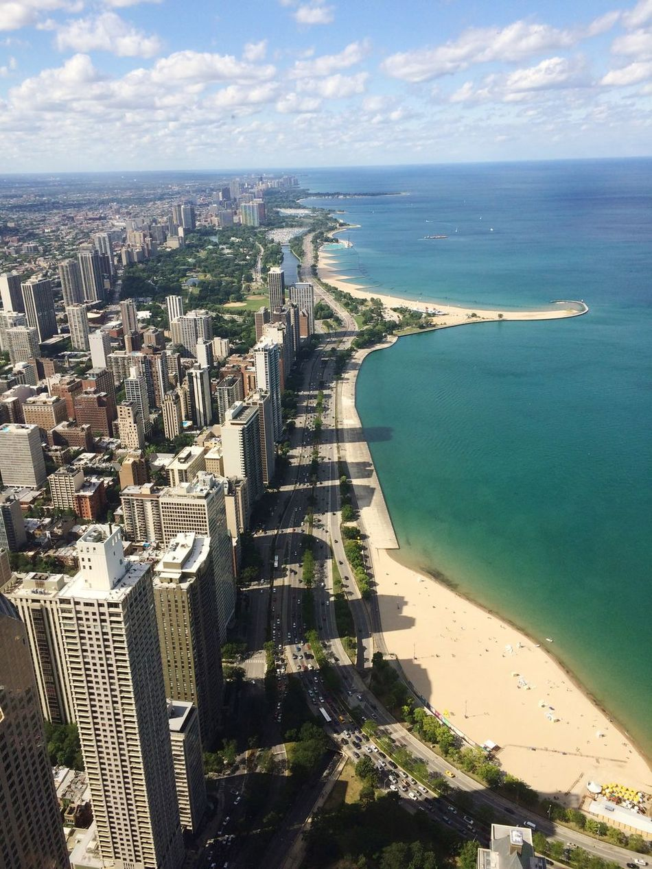 Chicago Chicago Hangcocktower View Enjoying The View Beach Lakemichigan