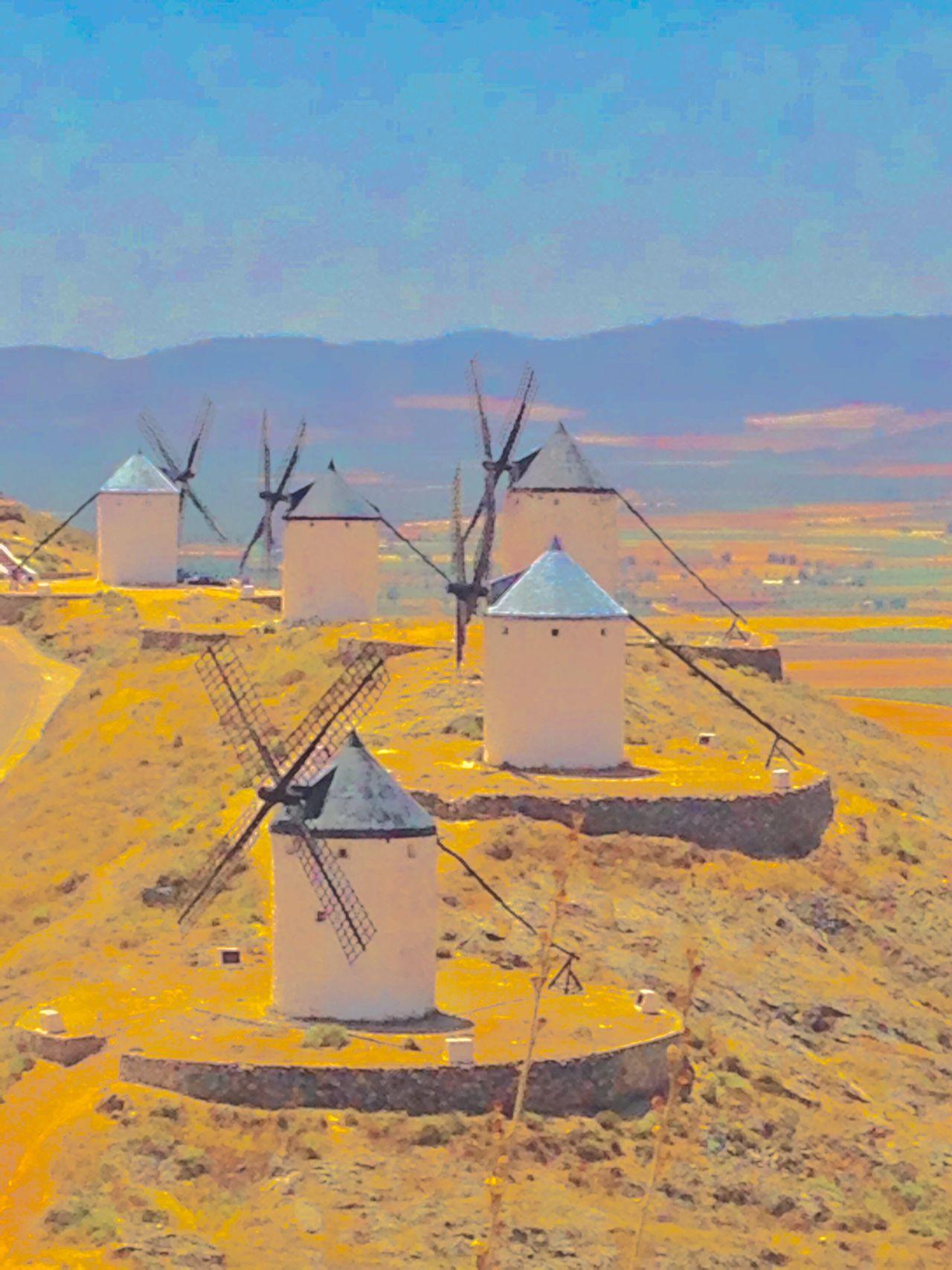 Spanish Windmill SPAIN La Mancha Windmills Landscape Consuegra