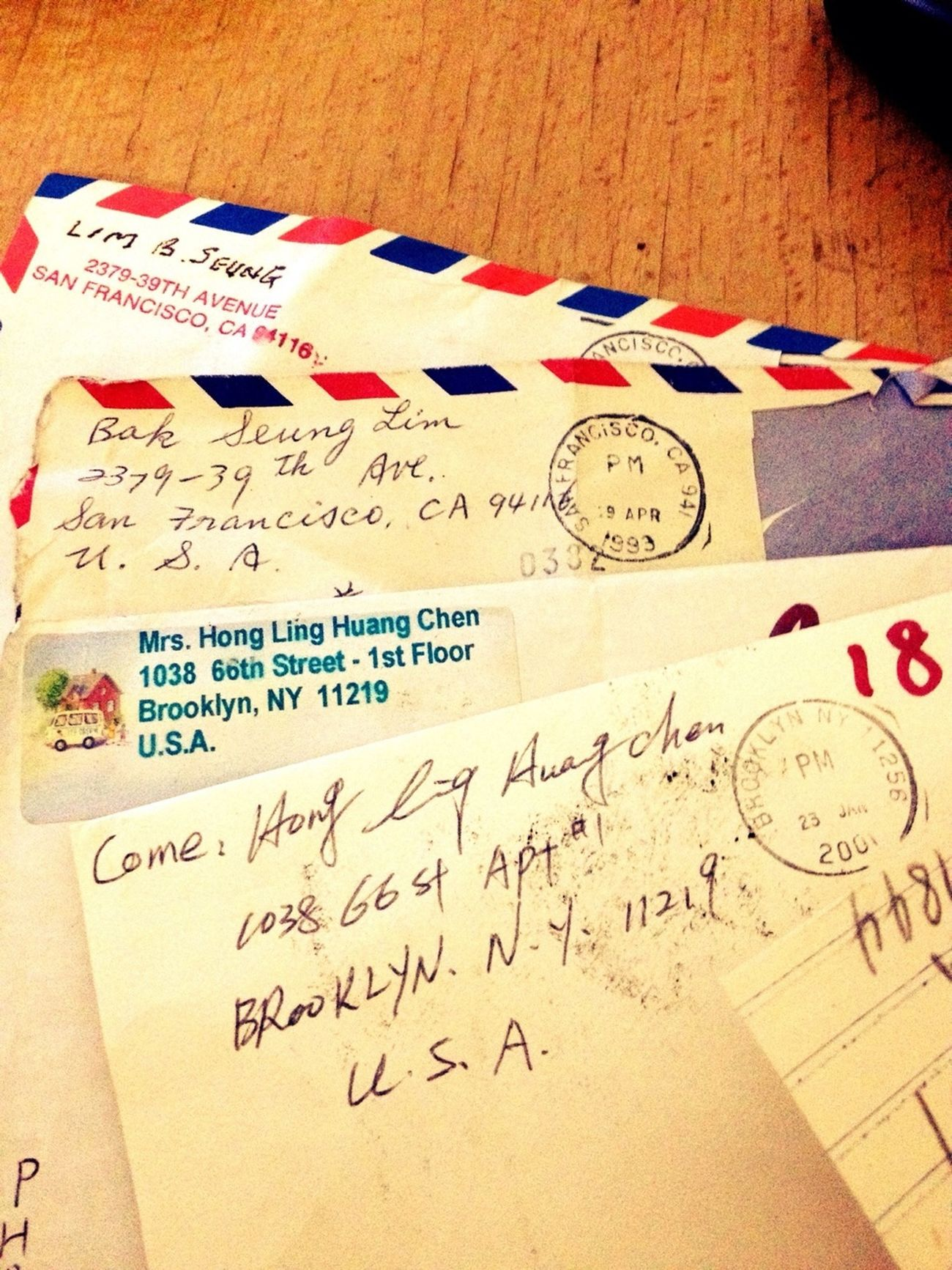 Letters From New York & San Francisco, In 1993.