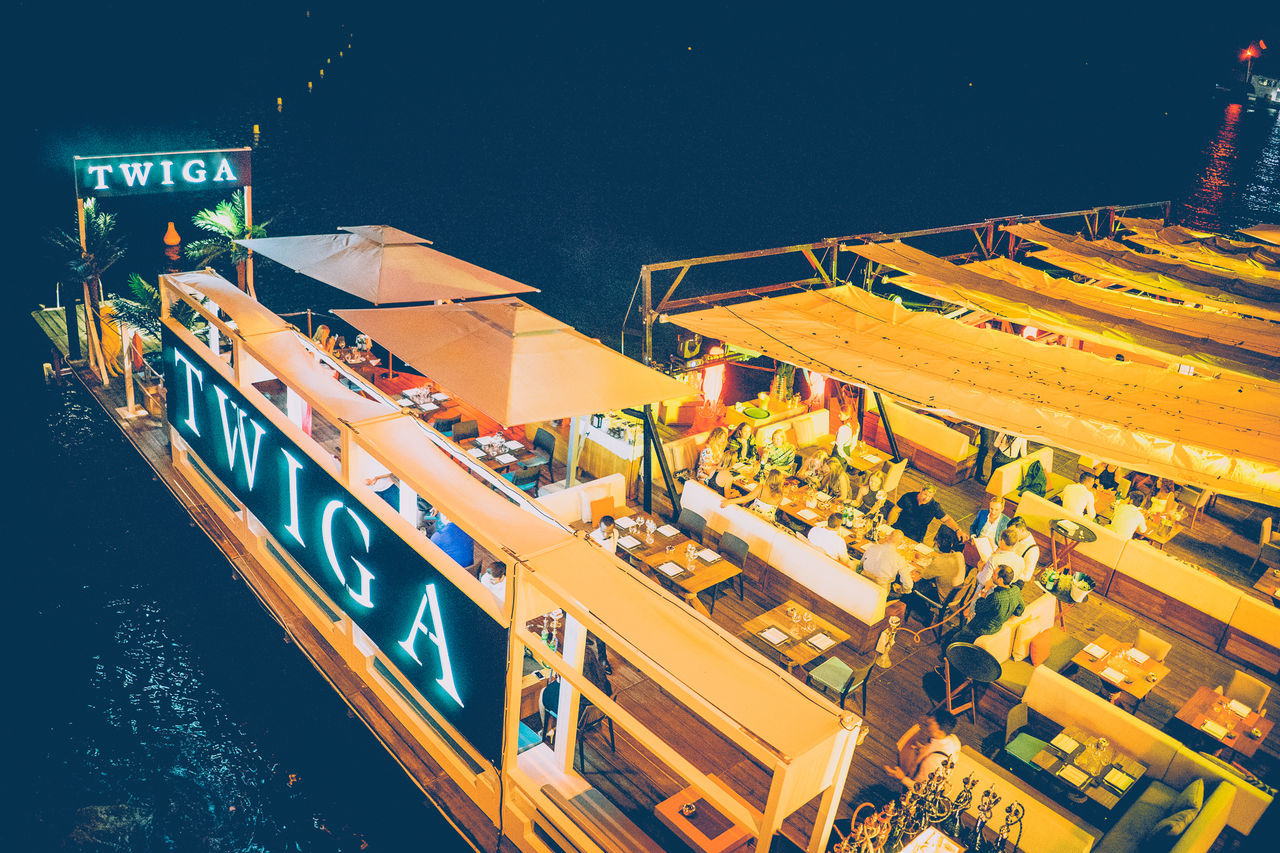 Bar Business Business Finance And Industry Industry Lights Monaco Night No People Outdoors Party Shipping