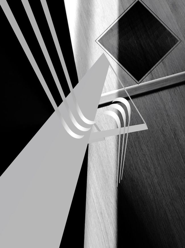 Internet Addiction High Angle View Modern Geometric Shape No People IPhoneography Shootermag For My Friends That Connect Abstract Studies Of Abstractions Blackandwhite Black And White Black And White Abstractions