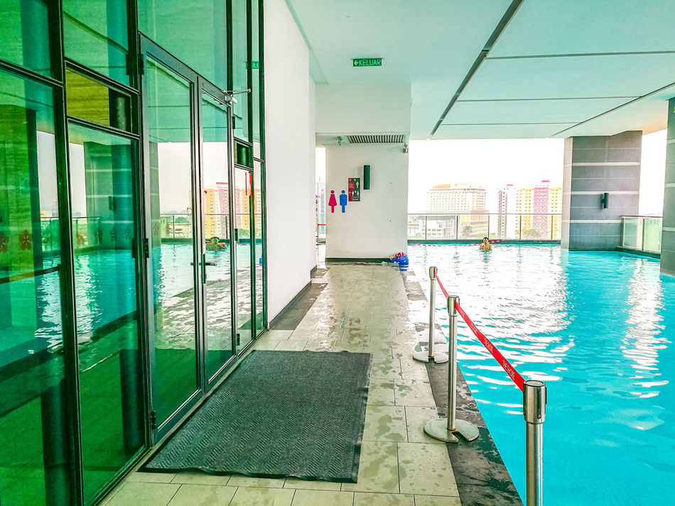 Indoors  Water Architecture Built Structure Day No People Locker Room Architecture Outdoors Malaysia Melaka Swissgardenresidence Swimming Pool HuaweiP9
